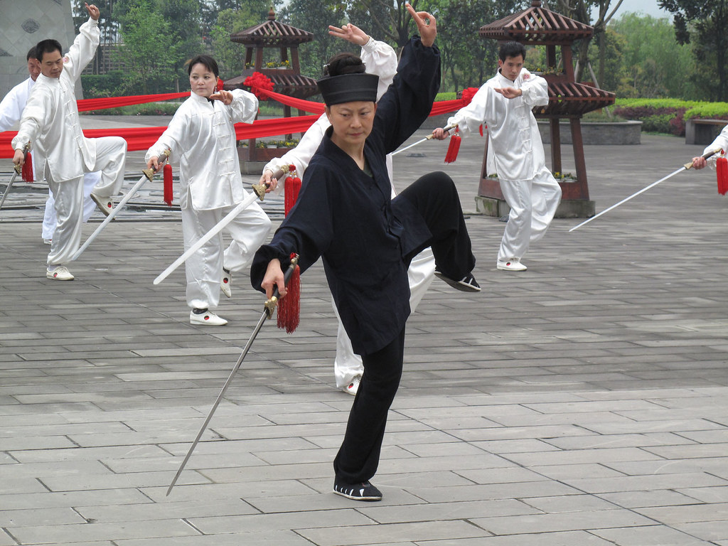 Taijiquan sword demonstration at Hemingshan