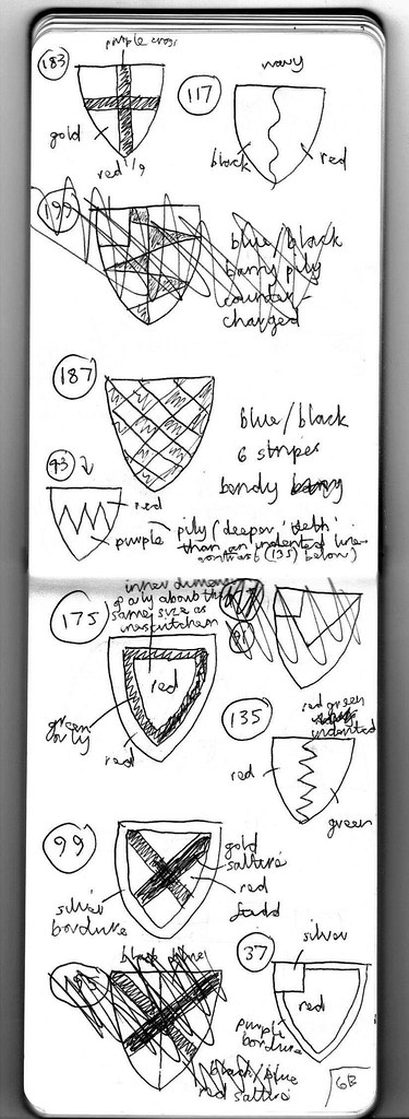 Heraldry Sketches for Five Wounds 6