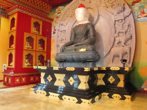 14 feet Shakymuni Buddha sits at the Main Shrine, Thrangu Monastery Canada, No. 5 Road Richmond BC