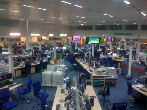 4am UK General Election at The Telegraph Newspaper office by Kate Day