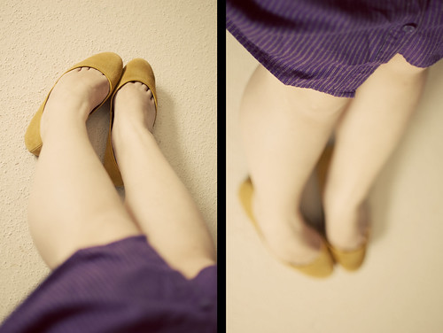 shoes & dress diptych