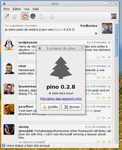 Pino 0.2.8 en action