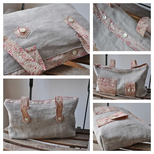 recycled shirt toiletry bag