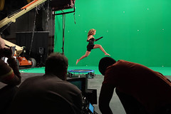 beyonce shooting a comercial