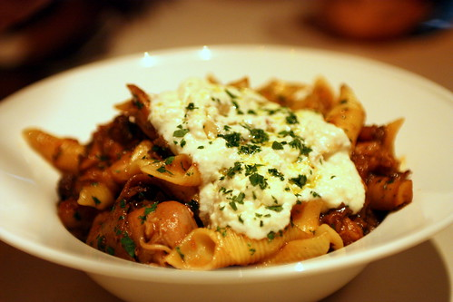 Garganelli, tomato braised Sonoma rabbit sugo, wild mushrooms & ricotta