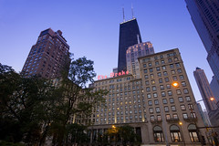 The Drake Hotel at Sunset (The Drake Hotel Chicago) Tags: chicago oakstreet drakehotel drake11 dopplr:stay=l231