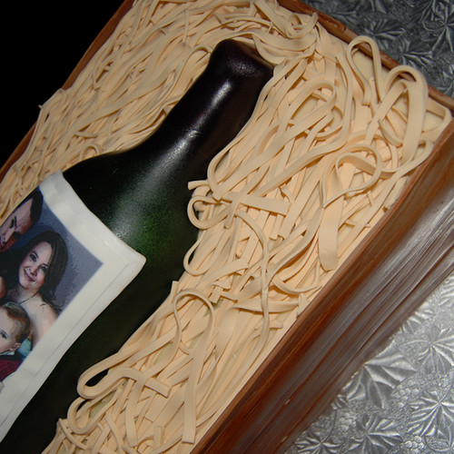 wine bottle cake sneak peak