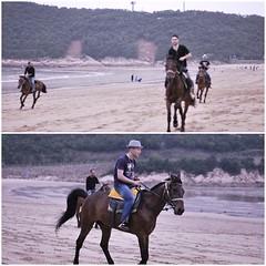 Cavaliers (helenelittle) Tags: sea horses beach boys sand riding cavaliers
