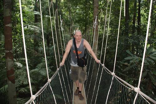Sweaty Hubbers, Jungle canopy walk, Taman Negara National Park, Malaysia