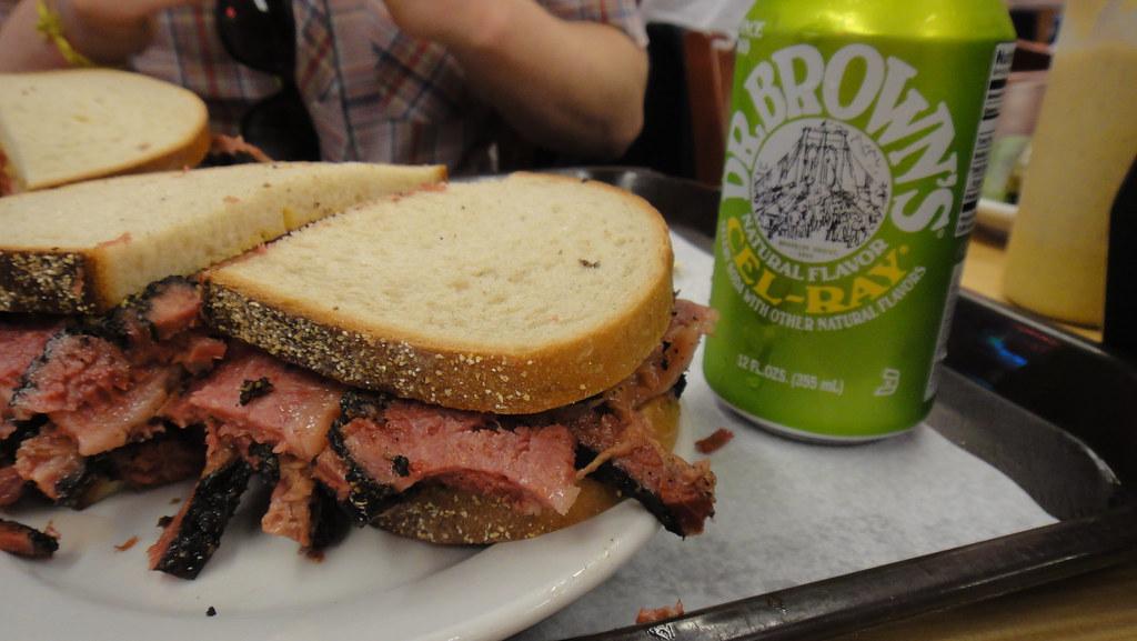 pastrami sandwich from katz's deli