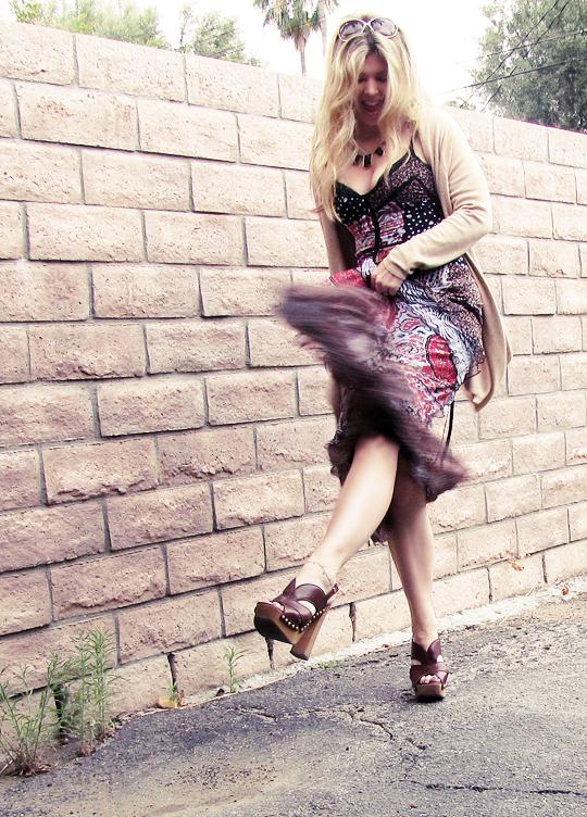 miu miu sandal clogs+ 70s dress-8dark