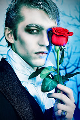 immortal (1photos.com) Tags: carnival portrait people man black sexy male classic love halloween fashion rose century vintage ball person costume blood european gloomy theatre cosplay vampire makeup handsome style graph 18th lord medieval dracula clothes suit jacket horror romantic masquerade lover charming elegant seductive immortal vamp waistcoat 19th calmness gentlemen aristocrat ageold tailcoat