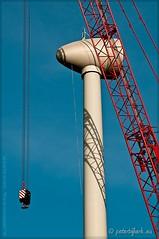 Opbouw windturbine Heerhugowaard (Peterbijkerk.eu Photography) Tags: netherlands windmill nikon nh hdr windturbine molen hdri molens stadvandezon heerhugowaard d300 nld enercon parkvanluna waerdsetempel peterbijkerk compumesseu peterbijkerkeu wagenborgnedlift strandvanluna techniekenindustrie opbouwwindturbine windturbineheerhugowaard