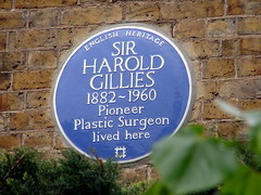 Photo of Harold Gillies blue plaque