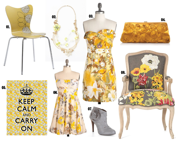 Grey and Yellow Fashion, Interiors