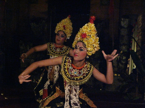Balinese dance makes use of highly stylized movements.