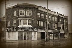 The corner of Gerrard and Greenwood ~ Toronto (Sally E J Hunter) Tags: toronto gerrardstreet moo1 topwli