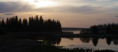 Evening Boardwalk (Kurayba) Tags: park sunset lake canada beach landscape island evening pentax sandy shoreline sigma trail national alberta boardwalk elk k7 sigma18125mmf3556dc 18125 astotin