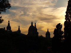 Montjuic sunset by Oh-Barcelona.com