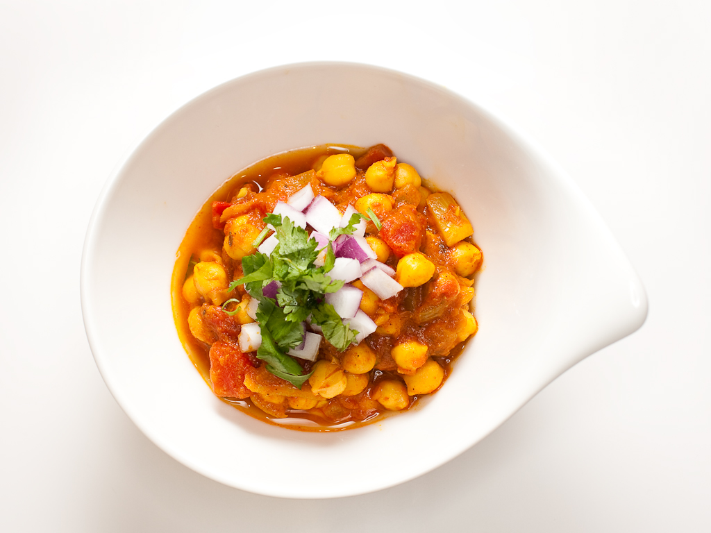 Chana masala - chickpea curry | Coconut Raita
