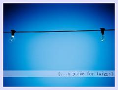 {postcards :: the light bulbs} (Hello Twiggs) Tags: blue light sky wire lisbon simplicity bulbs