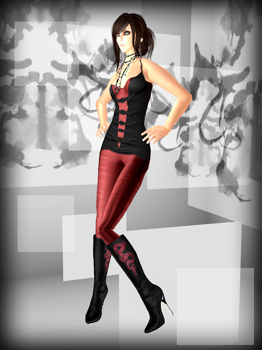 Dominion Free Black Dress and Free Eva Boots