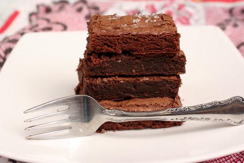 Salted Dark Chocolate Brownie