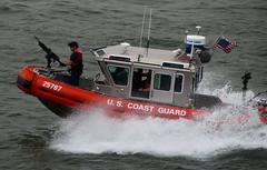 US Coast Guard NY Harbour (Globalviewfinder) Tags: new york city usa america coast gun united guard machine states