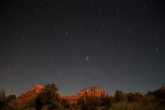 Star trail facing east at Sedona, Arizona (click_ak) Tags: arizona night sedona redrocks startrail Astrometrydotnet:status=failed canonxsi Astrometrydotnet:id=alpha20100650894593