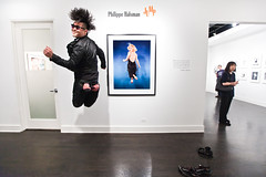phillip, philippe and marilyn (sgoralnick) Tags: friends jump jumping marilynmonroe tribute phillip jumpology philippehalsman showgallery phillipckim laurencemillergallery