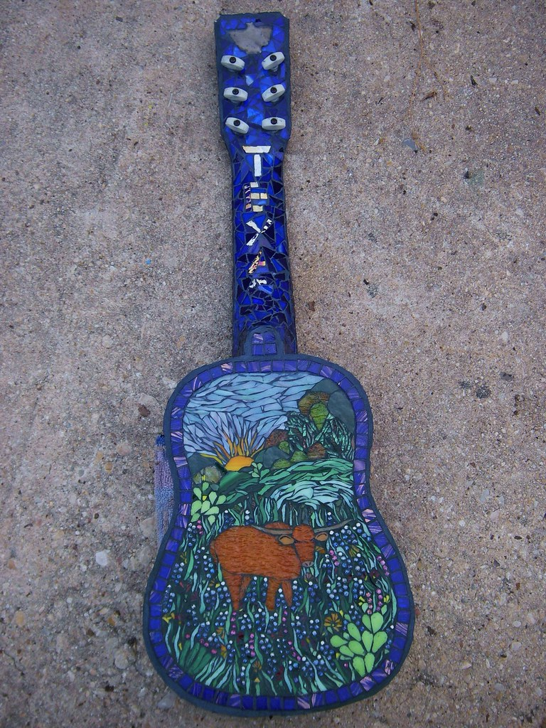Bluebonnet Blues Guitar Back