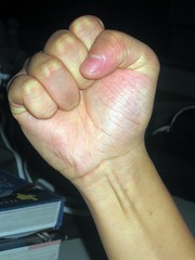 Communist Fist (Bellie Flopper) Tags: people hand arm finger communist fist fingernails government gov