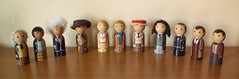 All the Doctors - Doctor Who (jen_random) Tags: wooden doll geek craft doctor doctorwho scifi etsy peg tombaker peterdavison colinbaker mattsmith sylvestermccoy patricktroughton davidtennant christophereccleston jonpertwee paulmcgann pegdoll williamhartnell randomlygenerated