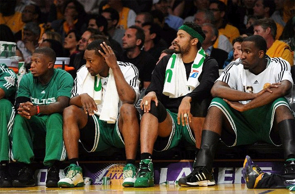 sad celtics bench