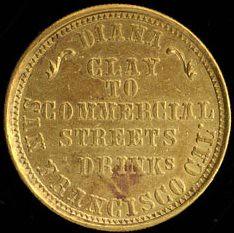 Diana Cal Gold coin fantasy reverse