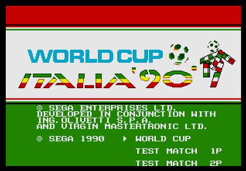 Captura del opening de Italia 90 en MegaDrive