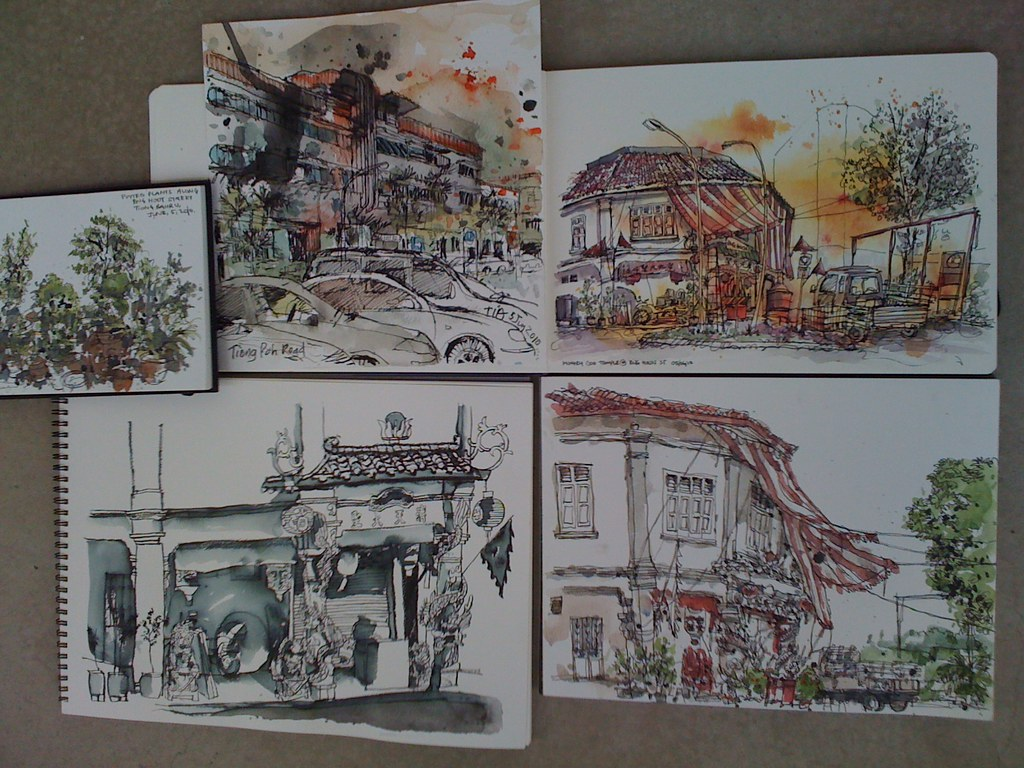 3rd Sketchwalk @ Tiong Bahru, Singapore