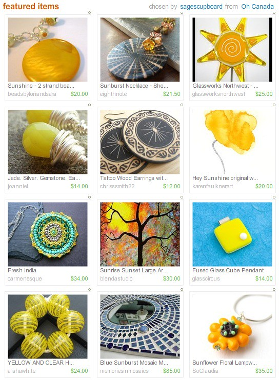 Etsy Picks: It's Warm in the Sun