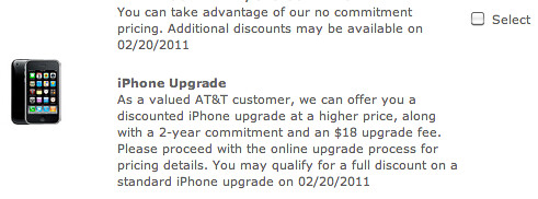 AT&T iPhone Upgrade