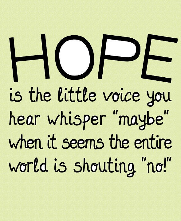hope is the little voice