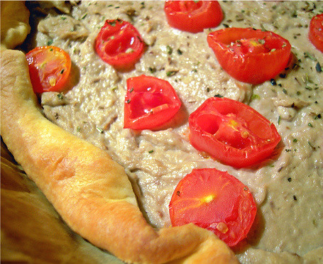 torta tonno e pomodorini