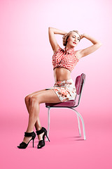 ris Bjrk (LalliSig) Tags: pink red portrait people woman brown white black fashion yellow shirt hair studio iceland makeup skirt portraiture pinup