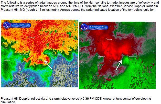 Harrisonville tornado 6-8-10 radar