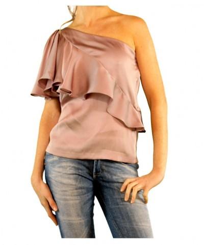 blusa de cetim feminina