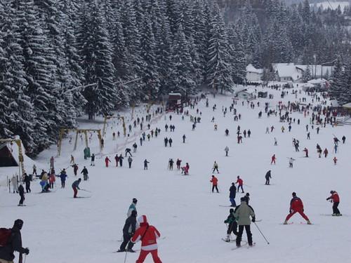 Skiing in Poiana Brasov, Romania