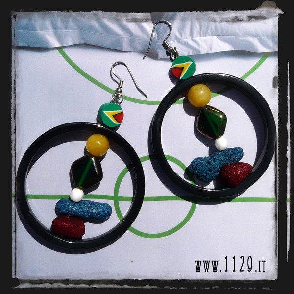 LFSUDAFRICA orecchini bandiera sudafrica - south africa earrings 1129