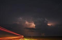 Light Speed, to the Hail Core!!! (Matt Granz Photography) Tags: storm oklahoma night nikon highway trucker tokina lighttrails lightning 1224mm severeweather d90