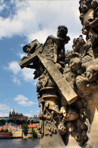 Charles Bridge, view of Prague castle