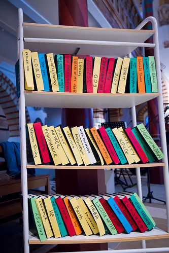 bookshelf of language