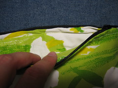 Wonkey zipper stitching